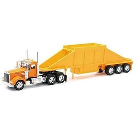 New Ray New Ray Kenworth W900 Pot Belly Dump Truck Orange 1:32 Scale Diecast Model Truck