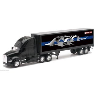 New Ray New Ray Kenworth T700 With Tribal Flame Graphics Black 1:32 Scale Diecast Model Truck