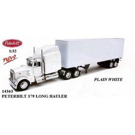 New Ray New Ray Peterbilt 379 40 Foot Container White 1:32 Scale Diecast Model Truck