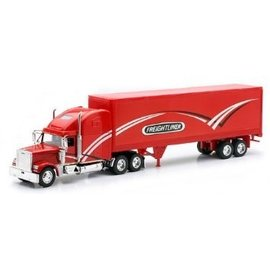 New Ray New Ray Freightliner Classic XL With Graphic Decal Red 1:32 Scale Diecast Model Truck