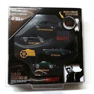 Greenlight Collectibles Greenlight Hollywood Steve McQueen Bullitt Four Car Collectors Set 1:64 Scale Diecast Model Car