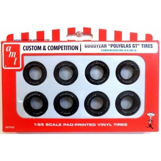 AMT AMT Custom & Competition Goodyear Polyglas GT Tires 1:25 Scale Pad Printed Vinyl Tires