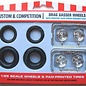 AMT AMT Custom & Competition Drag Gasser Wheels & Tires 1:25 Scale Wheels & Pad Printed Tires