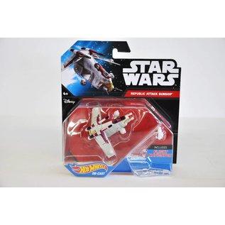 Hot Wheels Hot Wheels Star Wars Starship Republic Attack Gunship Includes Flight Navigator