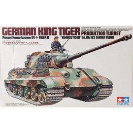 Tamiya Tamiya German King Tiger Production Turret 1:35 Scale Plastic Model Kit