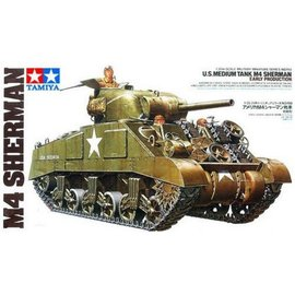 Tamiya Tamiya M4 Sherman Tank 1:35 Scale Plastic Model Kit