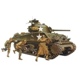 Tamiya Tamiya M4A3 Sherman Tank 75mm Gun 1:35 Scale Plastic Model Kit