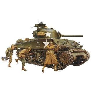 Tamiya Tamiya M4A3 Sherman Tank 75mm Gun 1:35 Scale Plastic Model Kit