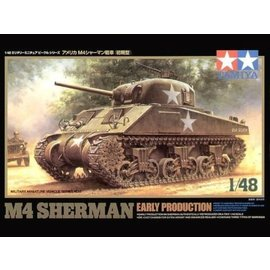 Tamiya Tamiya M4 Sherman Tank Early Production 1:48 Scale Plastic Model Kit