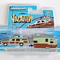 Greenlight Collectibles Greenlight Hitch & Two Vacation Wagon Queen Family Truckster And Travel Trailer 1:64 Scale Diecast Model Car