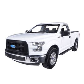 Welly Die Casting Welly 2015 Ford F-150 Regular Cab Pickup Truck White 1:24 Scale Diecast Model Car