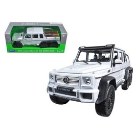 Welly Die Casting Welly Mercedes Benz G63 AMG 6X6 White 1:24 Scale Diecast Model Car