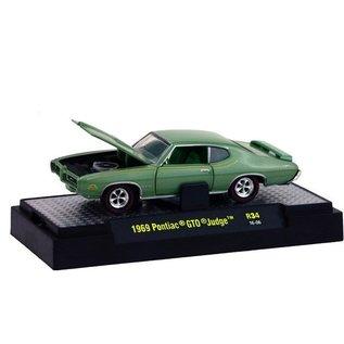 M2 Machines M2 Machines 1969 Pontiac GTO Judge Green Detroit Muscle 1:64 Scale Diecast Model Car