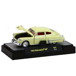 M2 Machines M2 Machines 1950 Oldsmobile 88 Yellow Auto-Thetics Release 37 1:64 Scale Diecast Model Car