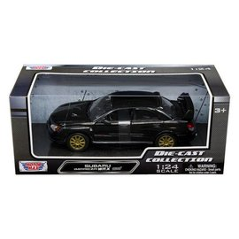 Motor Max Motor Max Subaru Impreza WRX STi Black 1:24 Scale Diecast Model Car