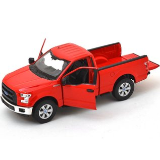 Welly Die Casting Welly 2015 Ford F-150 Regular Cab Red 1:24 Scale Diecast Model Car