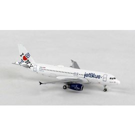 Gemini Jets Gemini Jets Jet Blue I Love New York Airbus A320 1:400 Scale Diecast Model Airplane