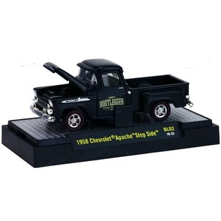M2 Machines M2 Machines 1958 Chevrolet Apache Step Side Bootlegger Series 2 1:64 Scale Diecast Model Car