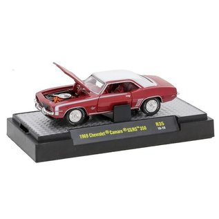 M2 Machines M2 Machines 1969 Chevrolet Camaro SS/RS 350 Red Detroit Muscle Release 35 1:64 Scale Diecast Model Car