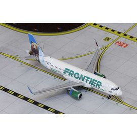 Gemini Jets Gemini Jets Frontier Airlines Airbus A320 1:400 Scale Diecast Model Airplane