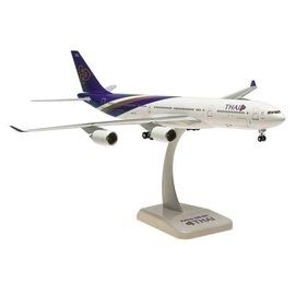 Hogan Wings Hogan Wings Thai Airlines Airbus A340-500 1:200 Scale Plastic Model Airplane