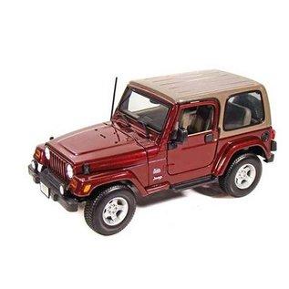 Maisto Maisto Jeep Wrangler Sahara Burgundy 1:18 Scale Diecast Model Car