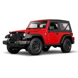 Maisto Maisto 2014 Jeep Wrangler Red 1:18 Scale Diecast Model Car