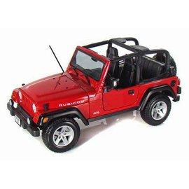 Maisto Maisto Jeep Wrangler Rubicon Red 1:18 Scale Diecast Model Car