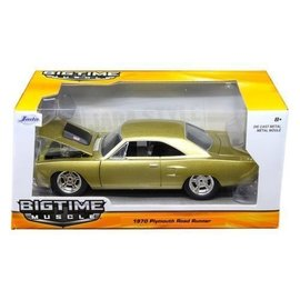 Jada Toys Jada Toys 1970 Plymouth Road Runner Gold 1:24 Scale Diecast Model Car