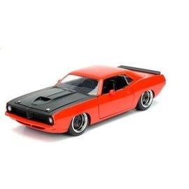 Jada Toys Jada Toys 1973 Plymouth Barracuda Red/Orange 1:24 Scale Diecast Model Car