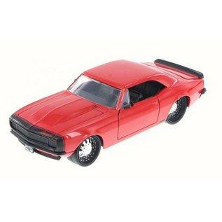 Jada Toys Jada Toys 1967 Chevy Camaro Red 1:24 Scale Diecast Model Car