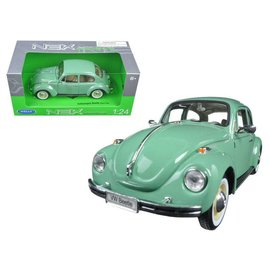 Welly Die Casting Welly Volkswagen Beetle Hard Top Light Green 1:24 Scale Diecast Model Car