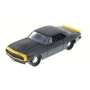 Jada Toys Jada Toys 1967 Chevy Camaro Primer Black 1:24 Scale Diecast Model Car