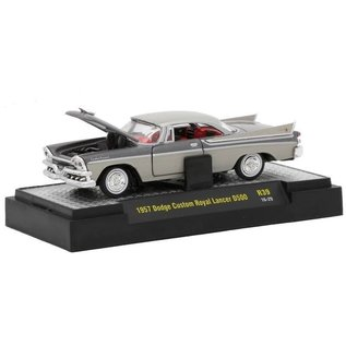 M2 Machines M2 Machines Auto Thentics 1957 Dodge Custom Royal Lancer D500 Grey Release 39 1:64 Scale Diecast Model Car