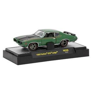 M2 Machines M2 Machines 1969 Pontiac GTO Judge Green Wild Cards Release WC06 1:64 Scale Diecast Model Car