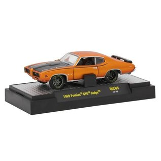 M2 Machines M2 Machines 1969 Pontiac GTO Judge Orange Wild Cards Release WC05 1:64 Scale Diecast Model Car