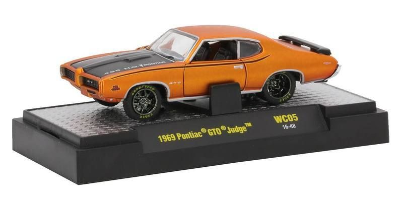 M2 Machines M2 Machines 1969 Pontiac GTO Judge Orange Wild Cards