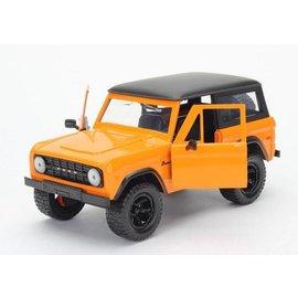 Jada Toys Jada Toys 1973 Ford Bronco Orange 1:24 Scale Diecast Model Car