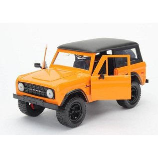 Jada Toys Jada Toys 1973 Ford Bronco Orange 1:24 Scale Diecast Model Car