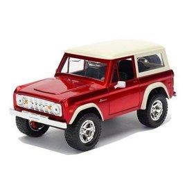 Jada Toys Jada Toys 1973 Ford Bronco Red 1:24 Scale Diecast Model Car
