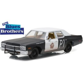 Greenlight Collectibles Greenlight 1974 Dodge Monaco Bluesmobile The Blues Brothers 1:24 Scale Diecast Model Car