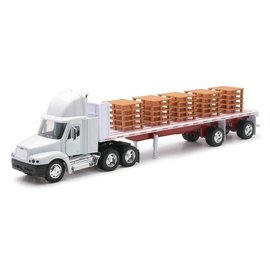 New Ray New Ray Freightliner With Pallets White 1:32 Scale Diecast And Plastic Model Truck