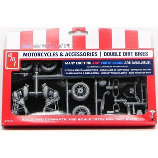 AMT AMT Motorcycles & Accessories Double Dirt Bikes 1:25 Scale plastic Model Kit