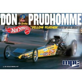 MPC MPC Don Prudhomme Hot Wheels Yellow Feather 1972 Top Fuel Dragster 1:25 Scale Plastic Model Kit