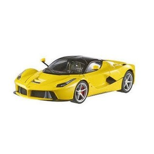 Hot Wheels HW Elite La Ferrari F70 Hybrid Yellow Mattel 1:18 Diecast