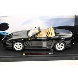 Hot Wheels Ferrari 550 Barchetta - Elite - Black - Mattel - 1:18 Scale Diecast