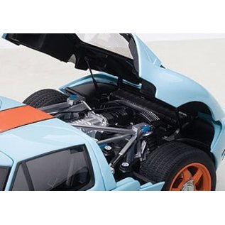 Auto Art 2004 Ford GT in Gulf Livery Auto Art 1:18 Scale Diecast Model Car