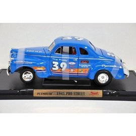 Road Signature Road Signature 1941 Plymouth Pro Street Blue 1:18 Scale Diecast Model Car