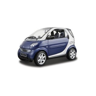 Maisto Maisto Smart Car for Two Coupe Blue 1:18 Scale Diecast Model Car