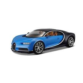 Bburago Bburago Bugatti Chiron Blue And Black 1:18 Scale Diecast Model Car